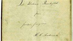 La page couverture d'un conte de Hans Christian Andersen, inédit jusqu'à aujourd'hui