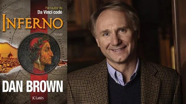Dans Brown et la couverture du livre « Inferno » ©danbrown.com