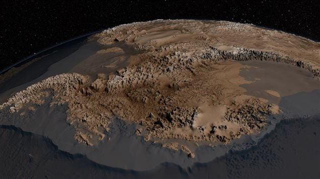 L'Antarctique sans sa calotte glaciaire