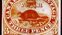 Le tout premier timbre-poste canadien.
