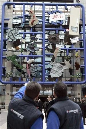 «Entropa», un casse-tête géant de l'Europe signé par l'artiste David Cerny