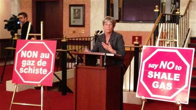Denise Melanson, de l'Alliance contre le gaz de schiste