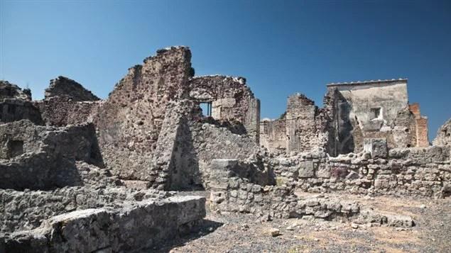 Des ruines à Pompéi