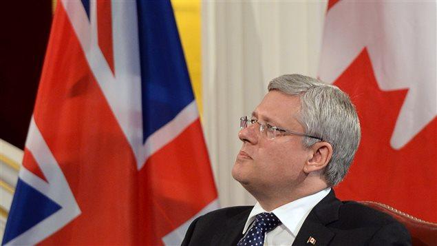 Le premier ministre du Canada, Stephen Harper, en visite commerciale dans la capitale britannique.