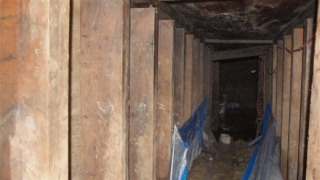 L'intérieur du tunnel