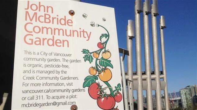 Bienvenue au jardin communautaire de la Ville de Vancouver!