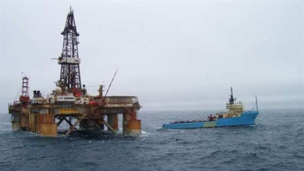 The GSF Grand Banks drilling rig shown here off the coast of Newfoundland in 2011. Canadian scientists want the government to ensure that commercial activities are not allowed in marine protected areas.