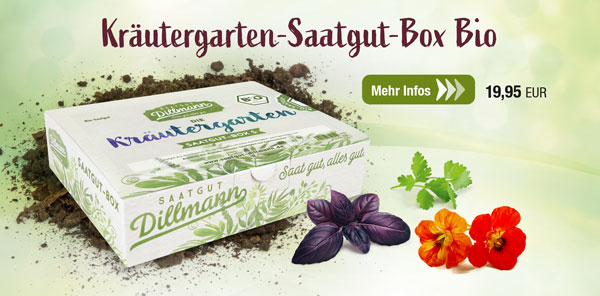 Die Kräutergarten-Saatgut-Box Bio