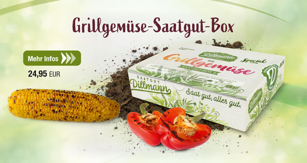 Die Grillgemüse-Saatgut-Box