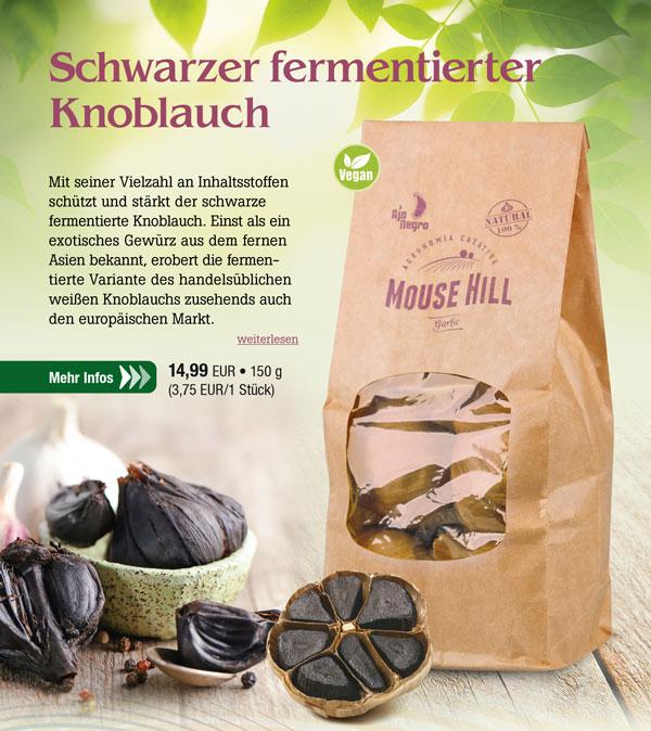 4er-Pack schwarzer Knoblauch