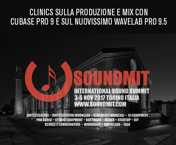 Clinics sulla produzione e mix con Cubase Pro 9 e WaveLab Pro 9.5