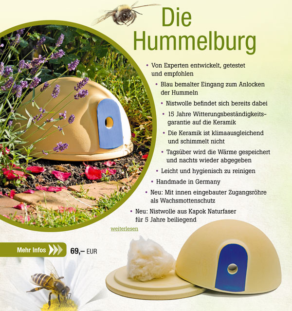 Denk Hummelburg aus CeaNatur® Keramik