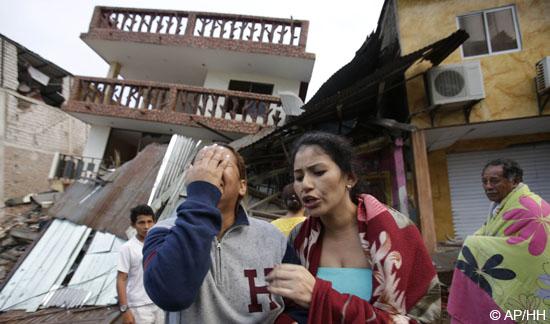 In der Nacht zu Sonntag (17.4.) hat ein schweres Erdbeben der Stärke 7,8 Ecuador erschüttert und schwere Verwüstungen angerichtet.