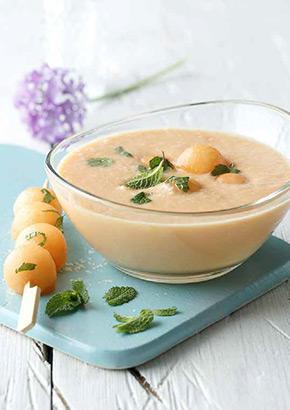 Vorspeise Melonensuppe