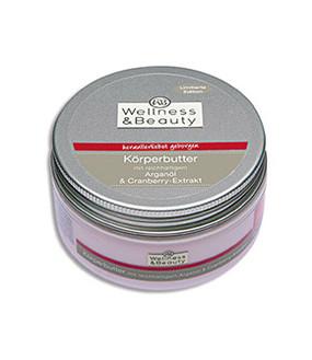 Wellness & Beauty Körperbutter Arganöl & Cranberry-Extrakt