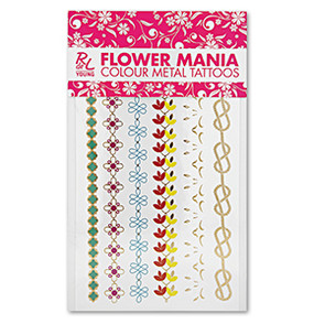 "RdeL Young ""Flower Mania"" Body Tattoos"
