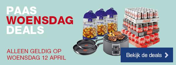 Paas Woensdag Deals - Alleen geldig op woensdag 12 april | Bekijk de deals >