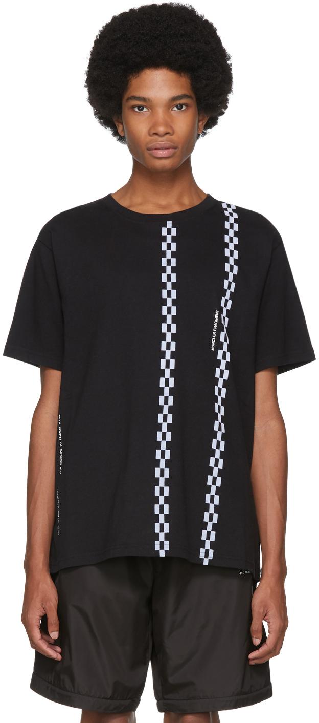 Moncler Genius 7 Moncler Fragment Hiroshi Fujiwara Black Stripe T-Shirt
