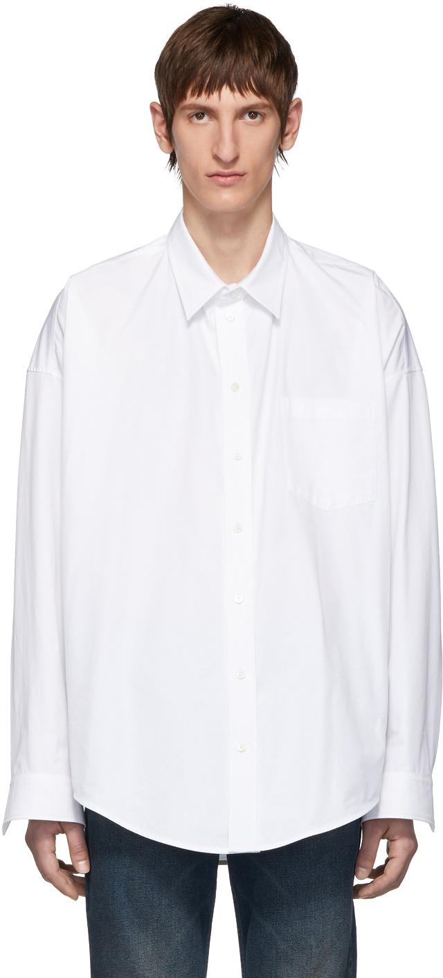 Balenciaga White Cocoon Shirt