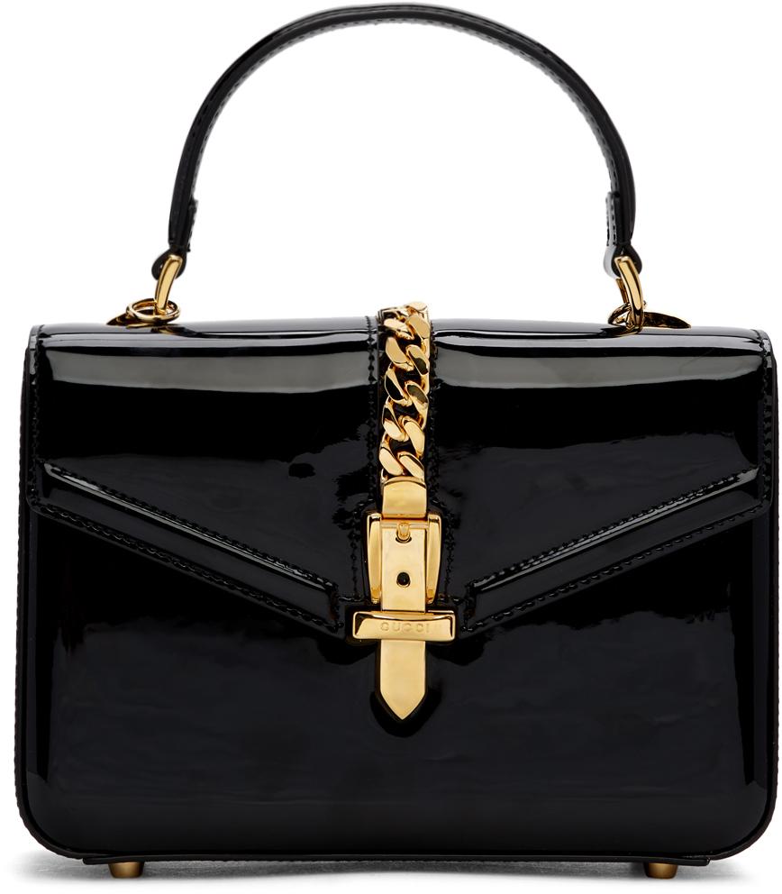 Gucci Black Mini Patent Sylvie Bag