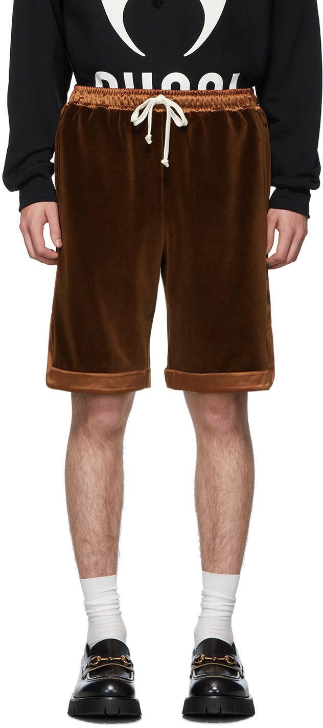 Gucci Brown Chenille Shorts