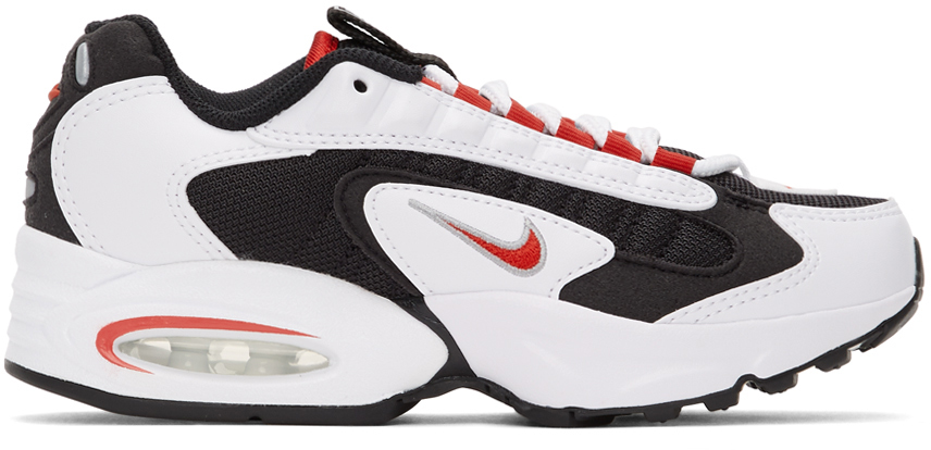 Nike White & Red Air Max Triax 96 Sneakers