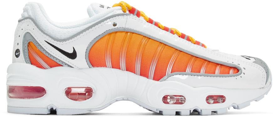 Nike White & Orange Air Max Tailwind IV NRG Sneakers