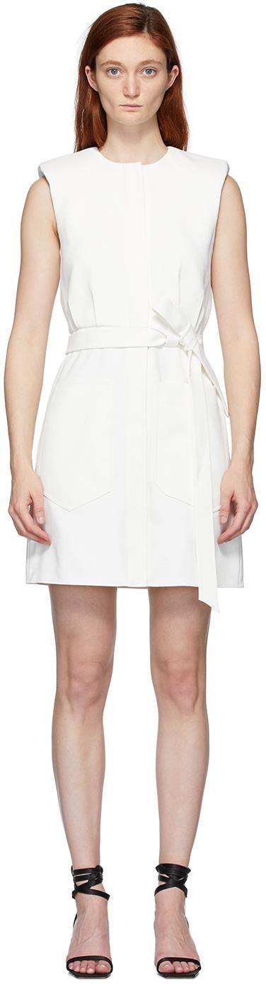 Tibi White Chalky Drape Dress