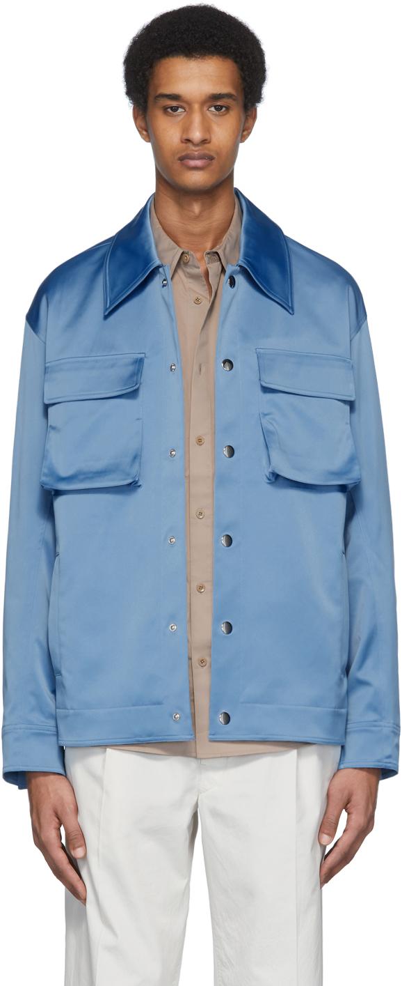 Tibi Blue Duchesse Workmen's Jacket