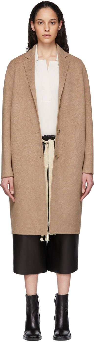 Acne Studios Tan Wool Single-Breasted Coat