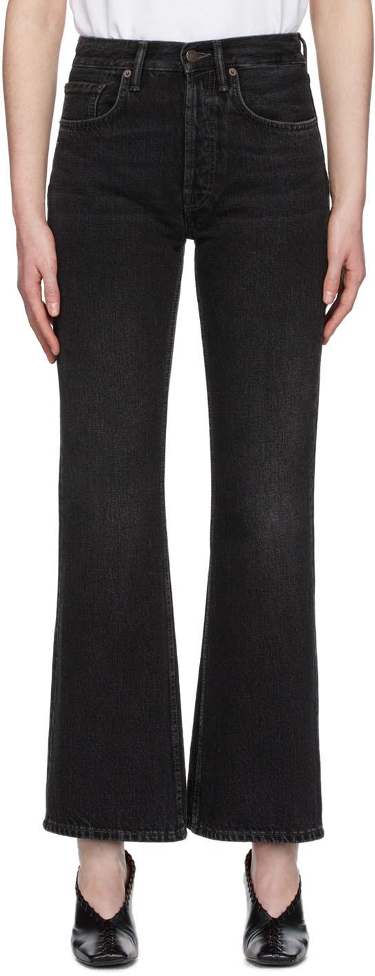 Acne Studios Black Blå Konst Vintage Bootcut Jeans