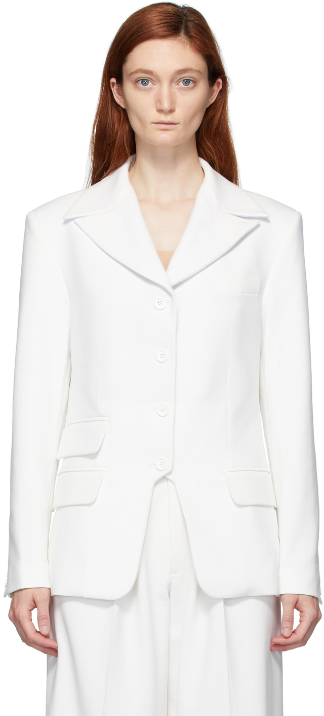 Situationist White Single-Breasted Blazer