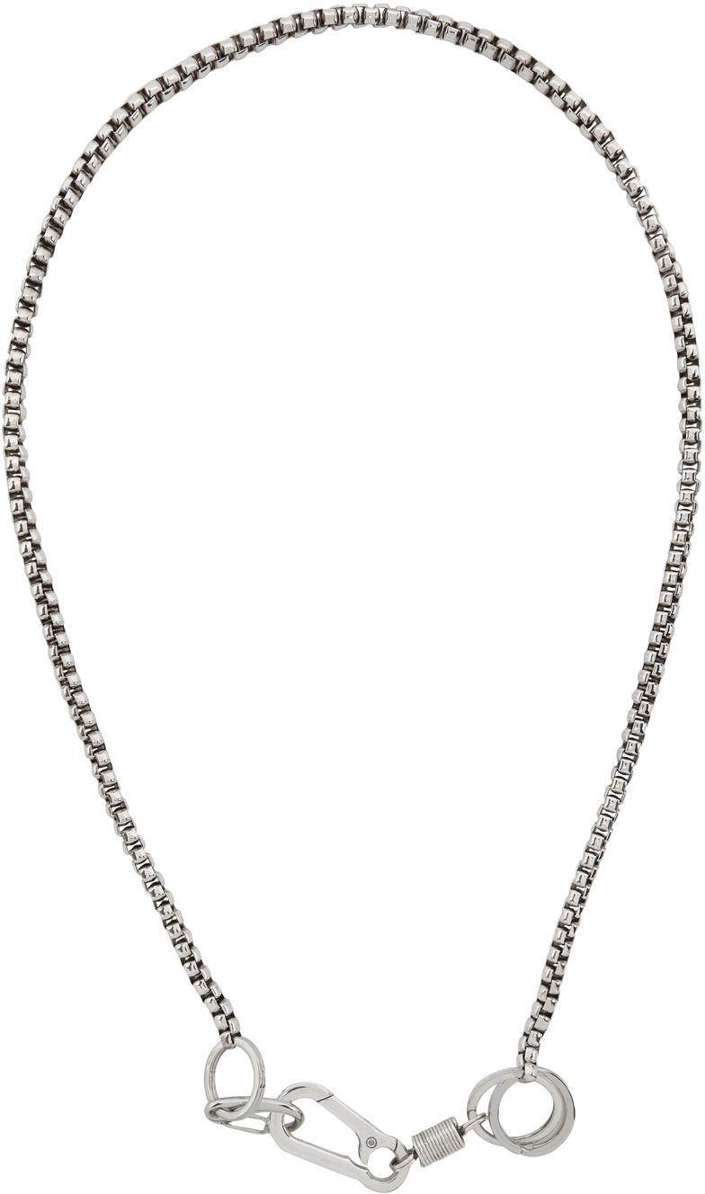 Martine Ali Silver Boxer Hardware Wrap Chain Necklace