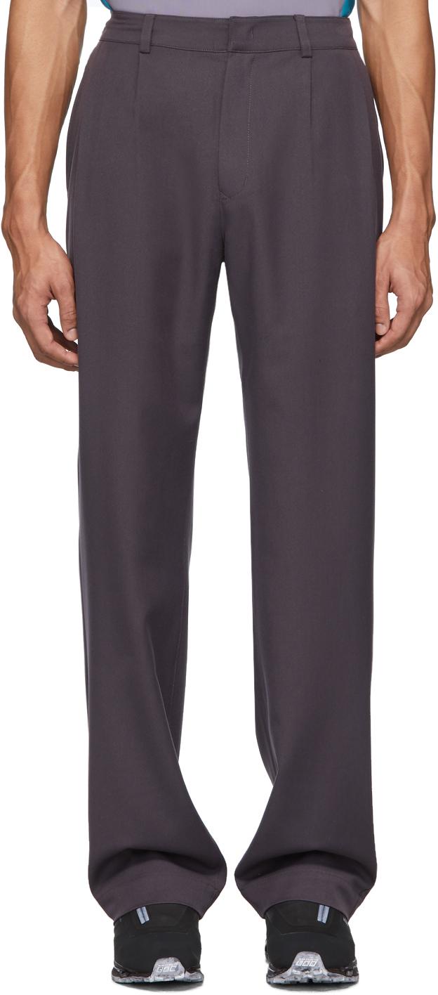 Keenkee Purple Relaxed Trousers