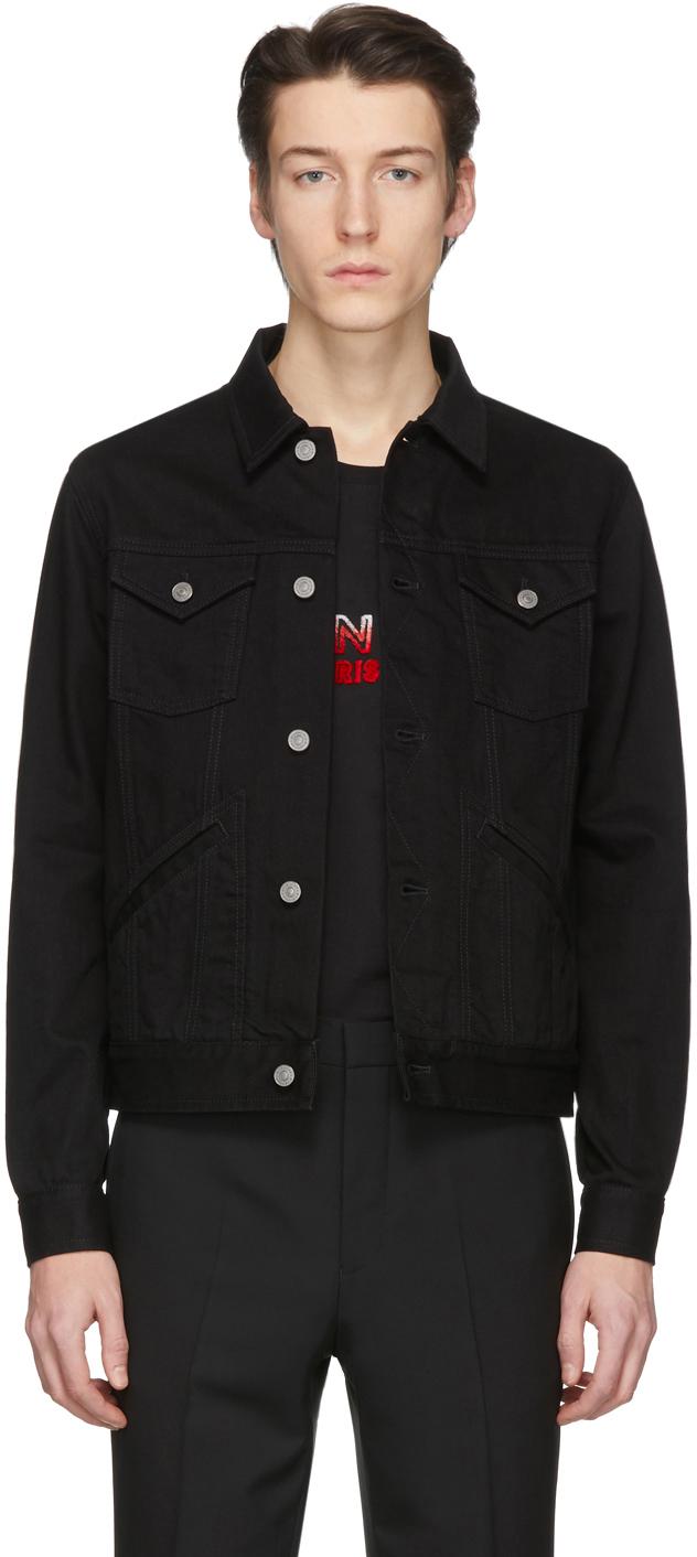 Givenchy Black Denim Logo Jacket