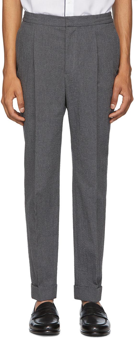 Officine Générale Grey Drew Trousers