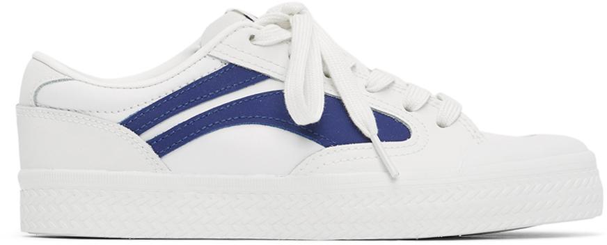 Li-Ning White & Blue Vintage Wave Sneakers