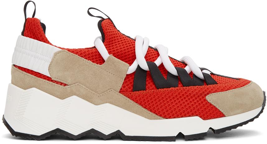 Pierre Hardy Red Trek Comet Sneakers