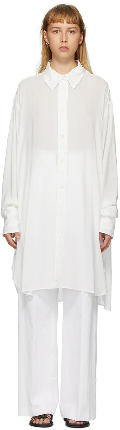 Ann Demeulemeester Off-White Trilene Sheer Shirt