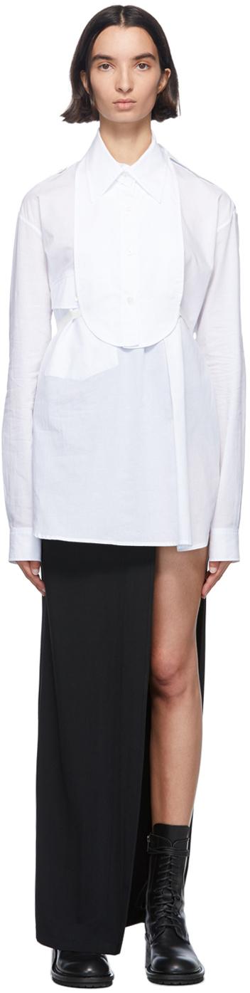 Ann Demeulemeester White Cotton Bavet Shirt