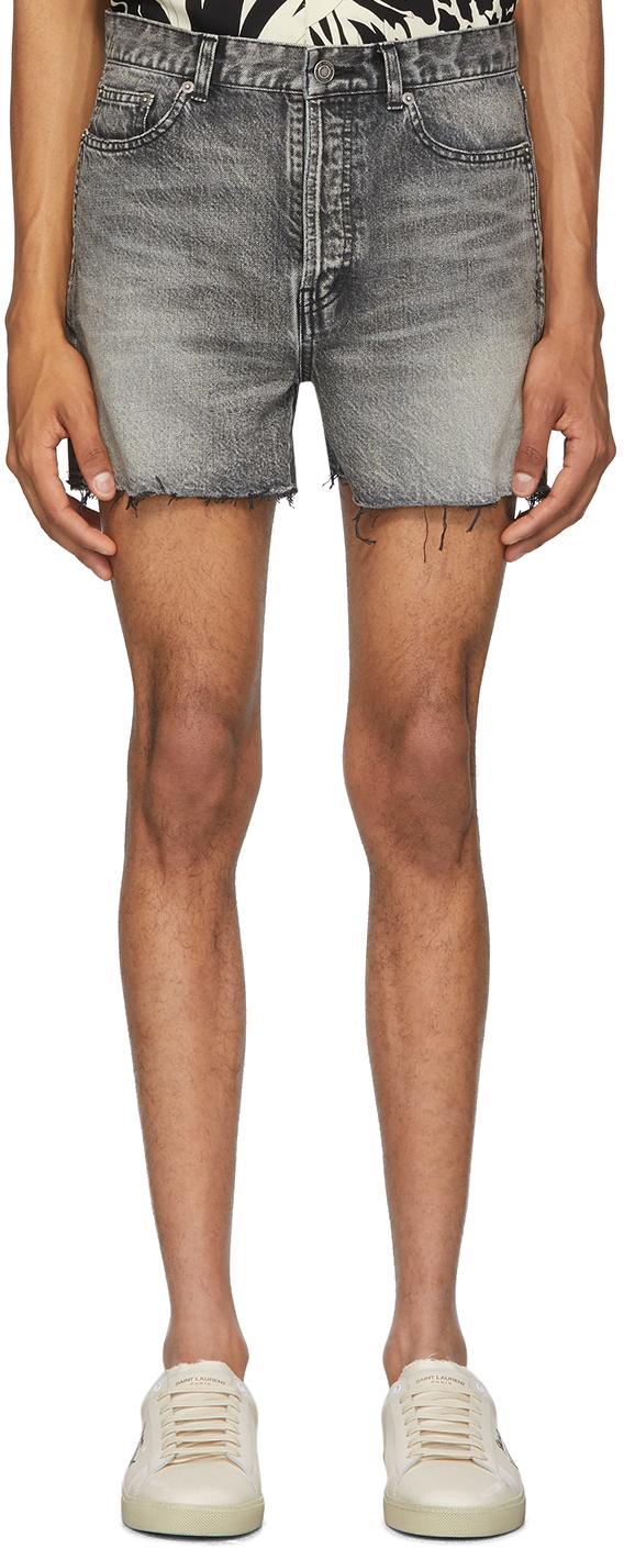 Saint Laurent Black Denim Shorts