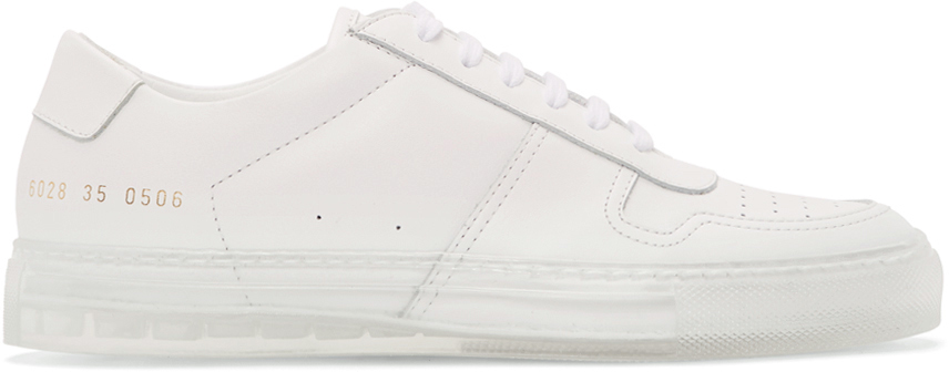 Common Projects White Transparent Sole BBall Low Sneakers