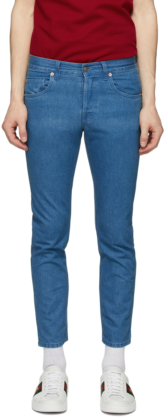 Gucci Blue Stonewashed Jeans