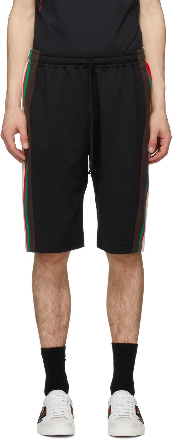 Gucci Black Stripe Shorts