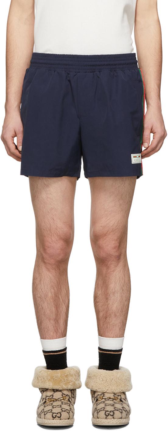 Gucci Navy Classic Swim Shorts