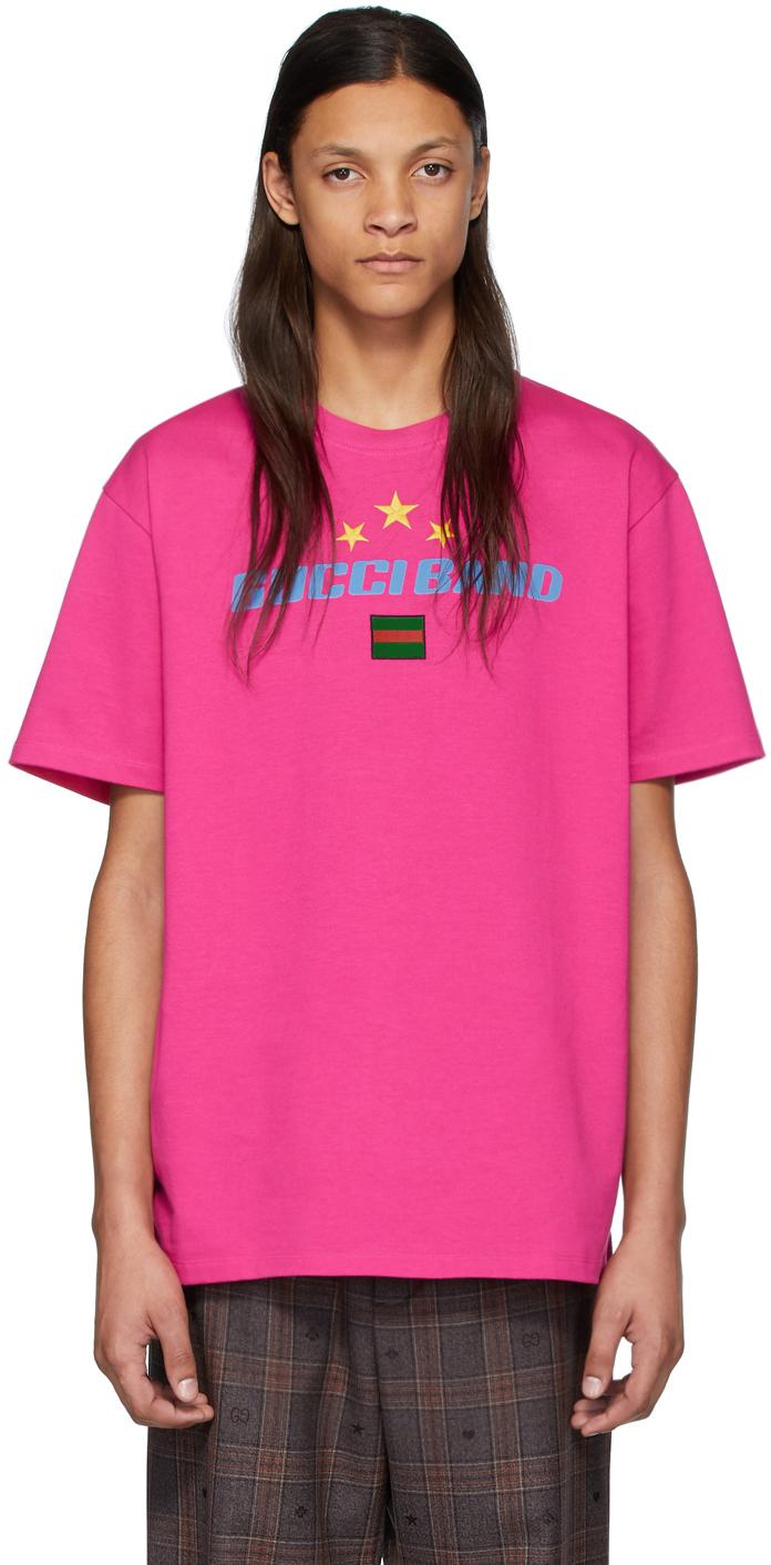 Gucci Pink 'Band' T-Shirt