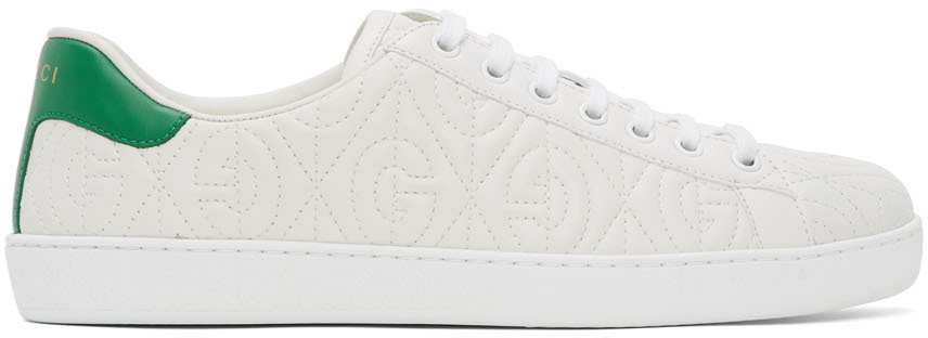 Gucci White G Rhombus New Ace Sneakers