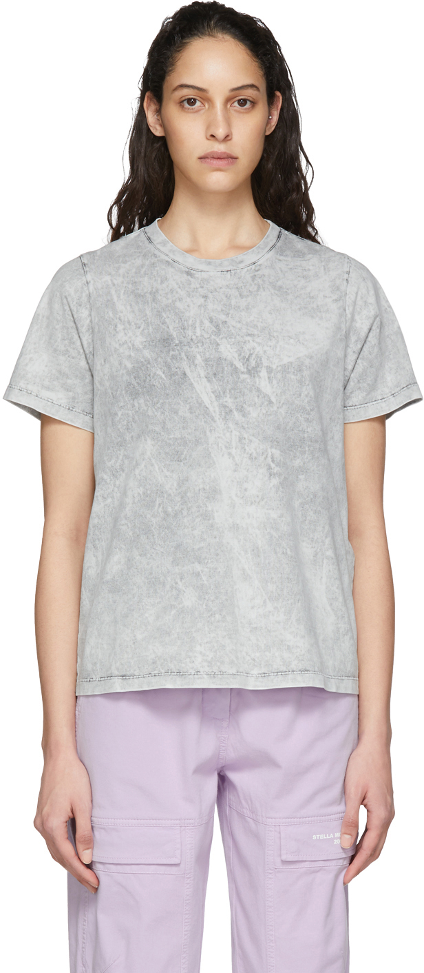 Stella McCartney White Embossed Logo T-Shirt