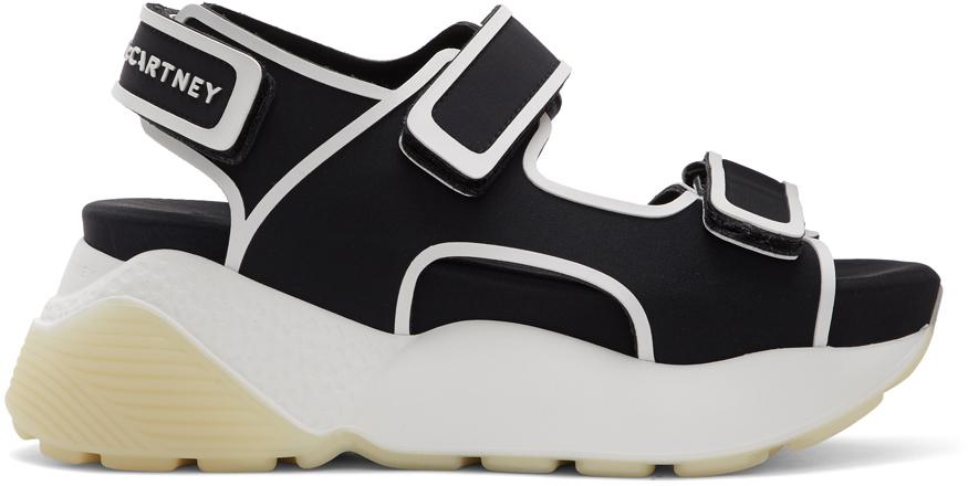Stella McCartney Black & White Contrast Sandals