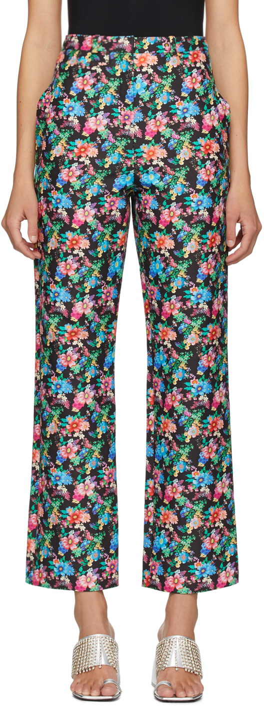 Paco Rabanne Multicolor Floral Trousers